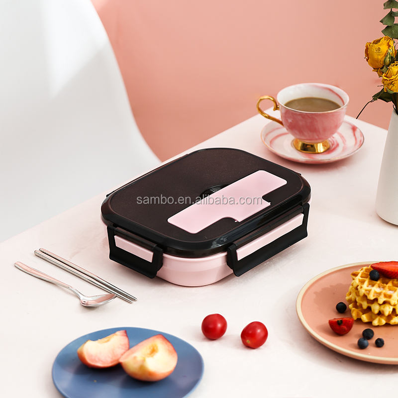 Eco Friendly Korean Insulated 4 Compartment Stainless Steel Food Container