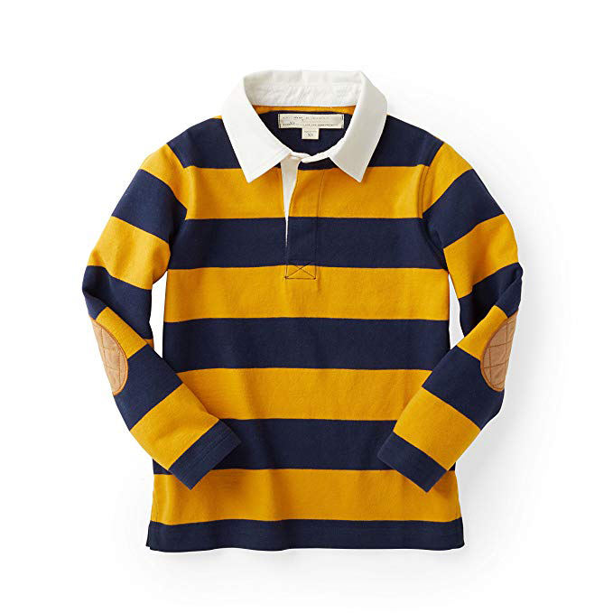 Custom Rugby Shirt Men's Sewn Stripe Long Sleeve Rugby Sports Polo Style Rugby Shirt For Men
