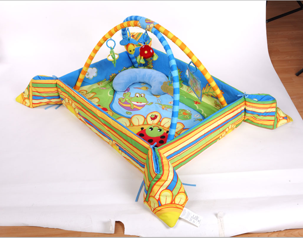 Hot sell Wholesale Custom new born baby activity gyms comfortable infant indoor baby care crawling carpetround baby play gym mat