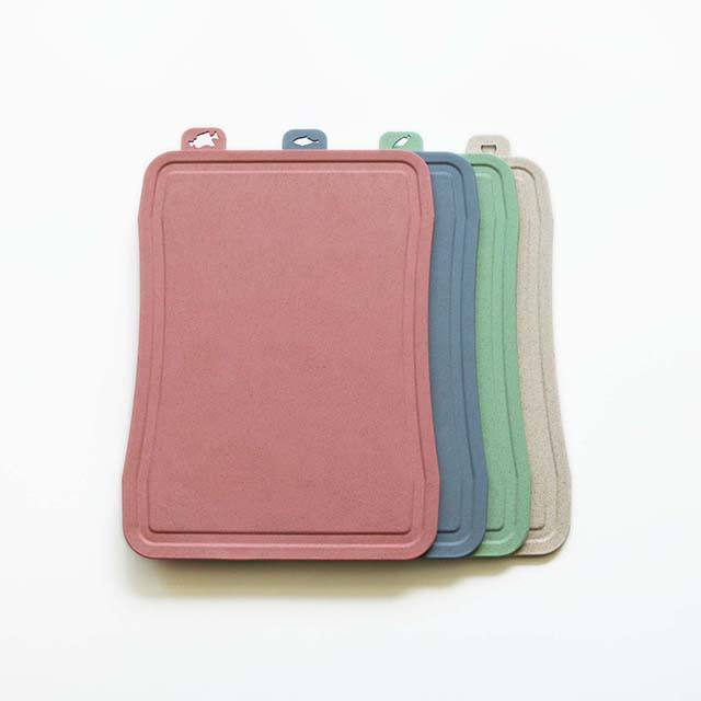 Biodegradable Mini Berkemah Berwarna Pintar Jerami Gandum Sekam Padi Serat Tahan Panas Plastik PP Cutting Chopping Board Set