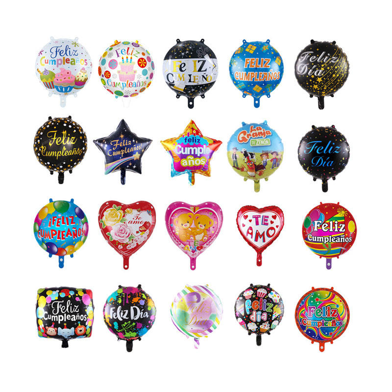 Spanish Happy Birthday Foil Balloons Suppliers I Love You Chinese 18 Inch Birthday Balloon