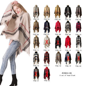 Women's Fall Winter Scarf Classic Plaid Scarf Warm Soft Chunky Large Blanket Wrap Shawl Scarves