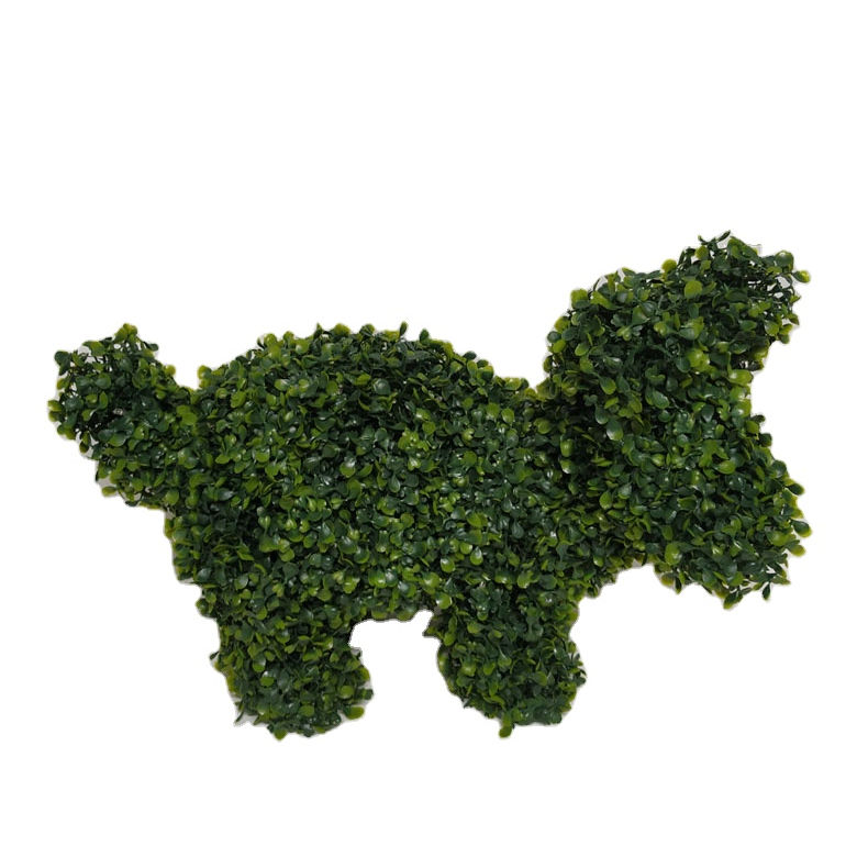 Outdoor Home Decor Animal Running Dog Artificial Plants with LED Ligtening