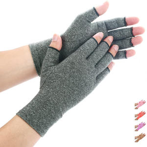 Imak Grip Ladies gray fingerless Cotton Compression Anti-Arthritis glove for Arthritis