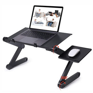 WIDENY Home Portable Aluminium Desktop Adjustable Laptop Stand for Bed with Cooling Holes for computer desk table