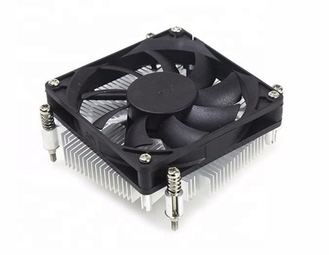 low profile Intel fans cooling socket aluminum heatsink 8cm fan CPU cooler 775 OEM manufacturer silent cooling