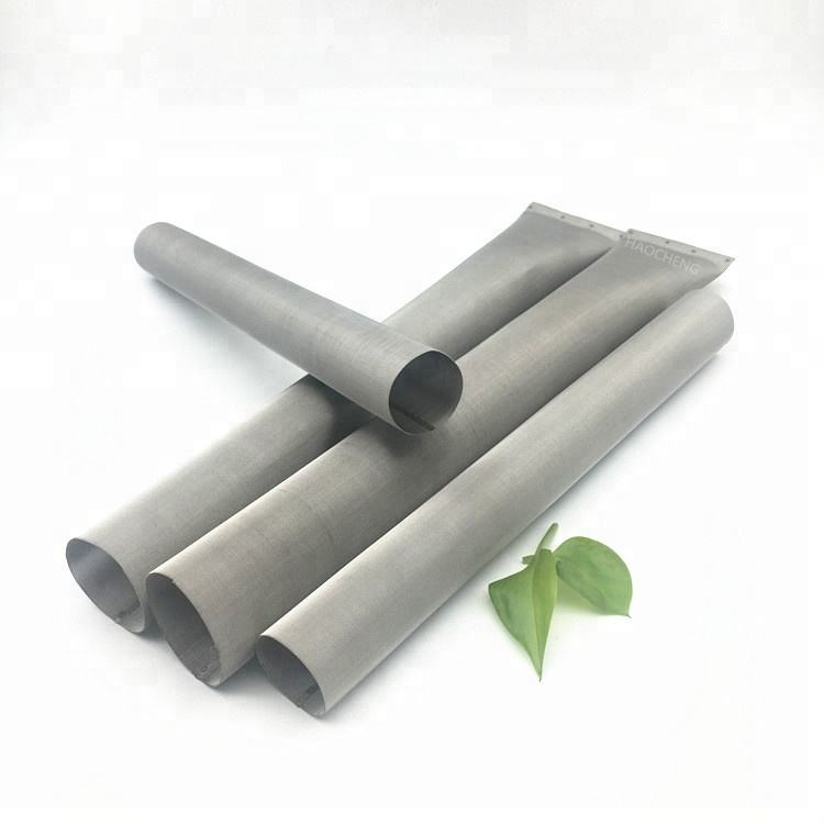 Water filter equipment 304 316 stainless steel monel 400 screen mesh sintered filter tube cylinder