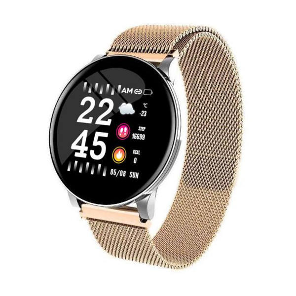 i watch series 4 2020 new W8 smart watch Big Round Screen Steel Strap Blood Pressure Fitness Tracker Waterproof IP67 smart watch