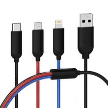 HOLDEN Multi Functional Phone Charger USB Cable Nylon Braided  3 in1 Data Transfer USB Cable