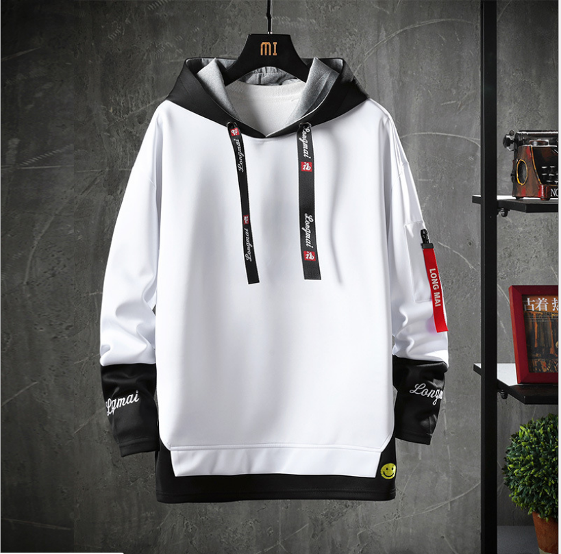 BAIYIMO Custom Pattern Logo Cartoon Character Men's pullover oversized Hoodie