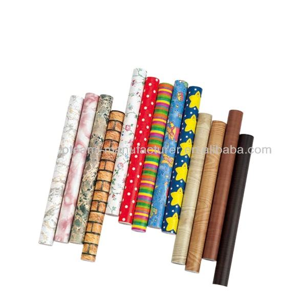 Self Adhesive PVC Decorative Films wallpaper sticker roll for Furniture Decoration