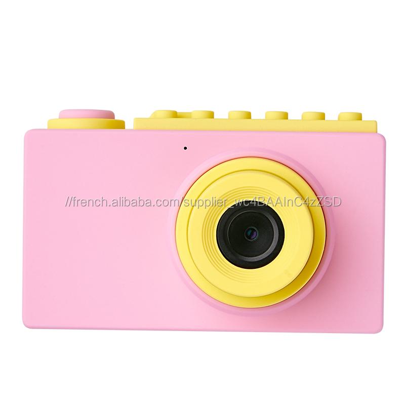 2020 meilleur Nouveau Enfant bloque jouet 1080P Enfants Jeu enfants appareil photo <span class=keywords><strong>numérique</strong></span>
