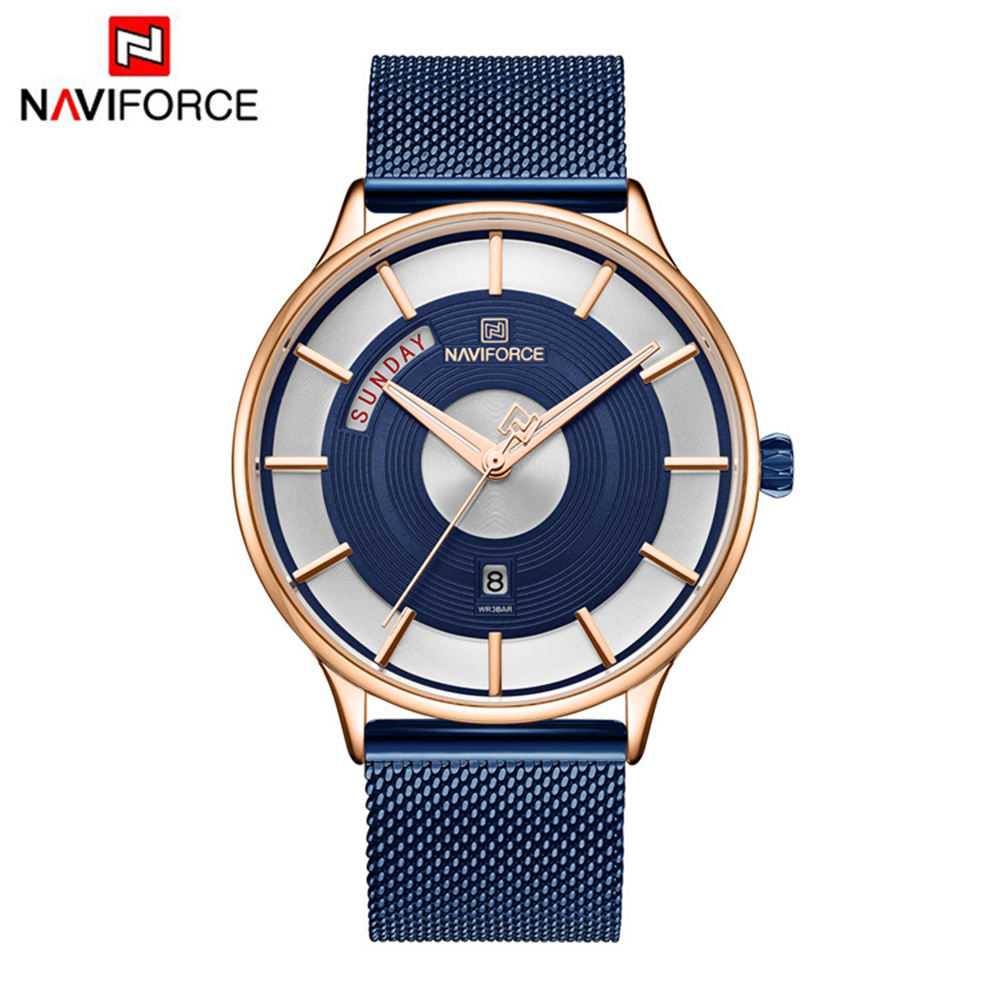 Hot selling NAVIFORCE genuine leather band Chronograph men's watch