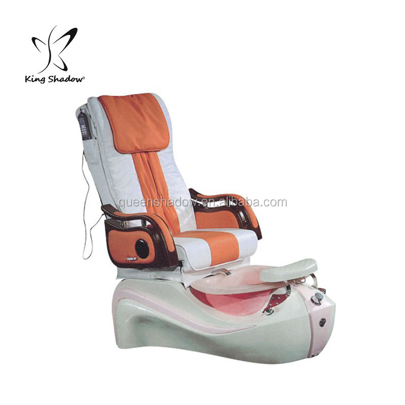 elegant pedicure furniture comfortable nail chair equipment kingshadow high level nail sofa with footbath for sale