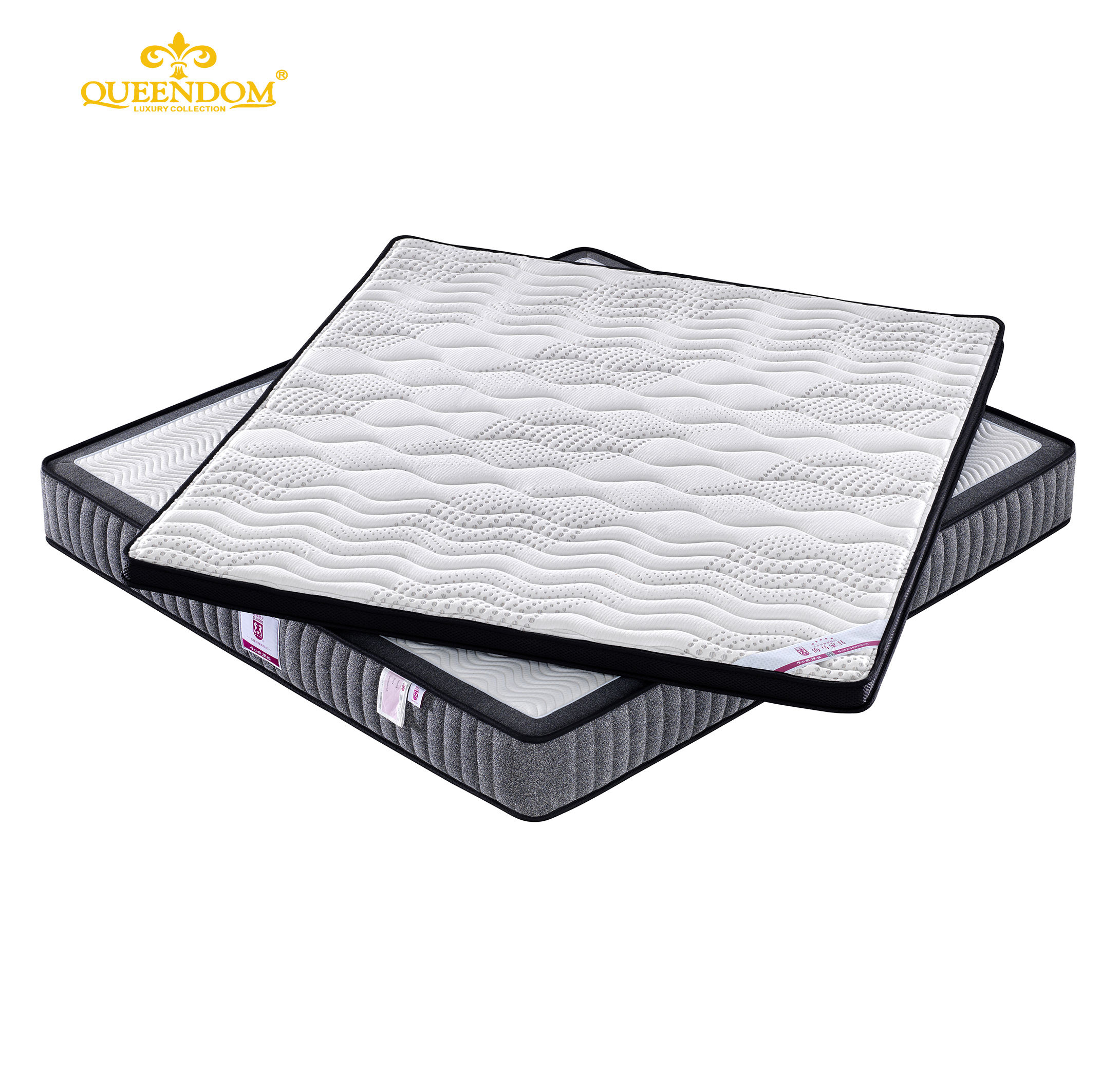 Factory Wholesale Bamboo Knitted Fabric latex foam Pocket Spring Mattress in a box