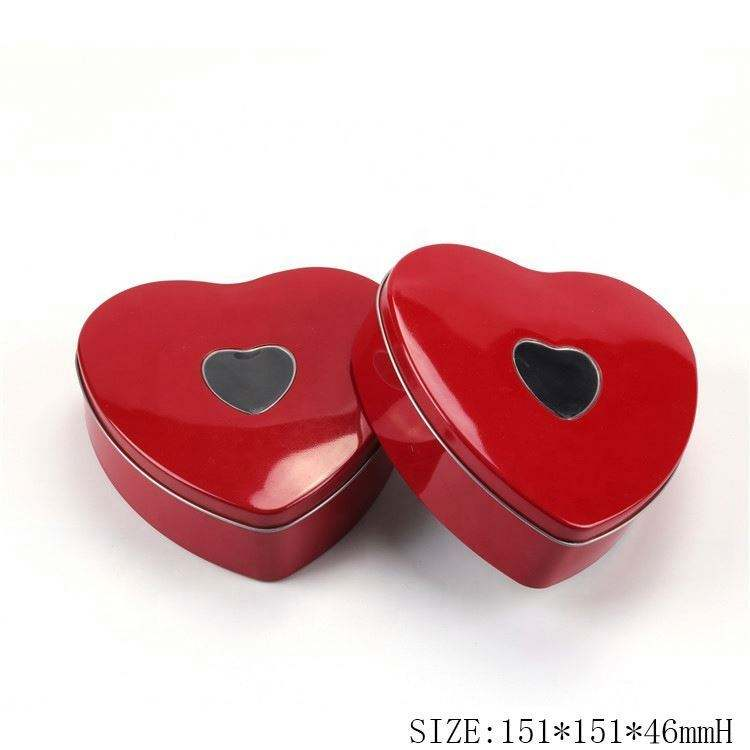 For Candy Storage Box Food Heart-Shape Shape Sweet Gift Metal Tin Wholesale