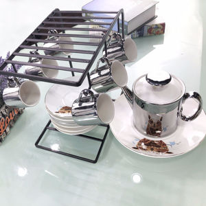 Manufacturer Wholesale Porcelain mirror tea coffee drinks pot set
