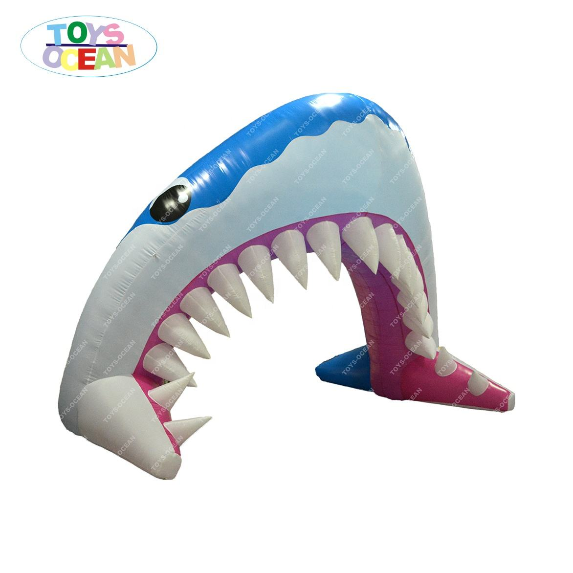 De alta calidad de arco Animal Plaza inflable gran pez arco