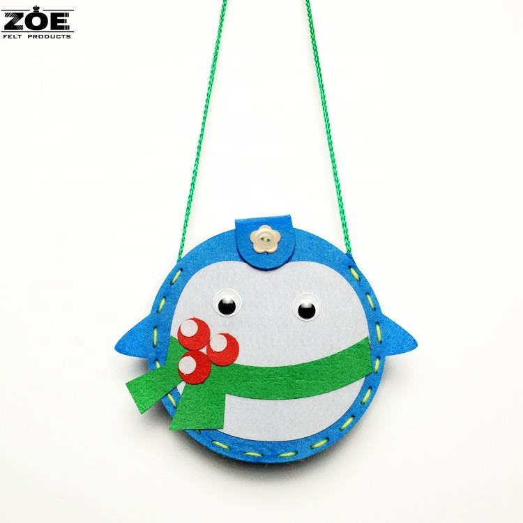 2019 New fashion cheap hotsale wholesale handmade cute xmas candy treat felt bag