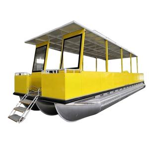 33ft 10m 30 seats durable passenger water taxi pontoon boat hot sales