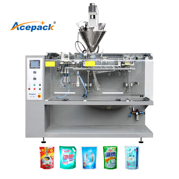 Emballage de sac préfait Horizontal 200g Machine de conditionnement de poudre de fruits secs