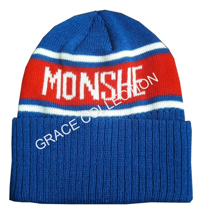 Women 100% Cashmerie Knitted Hat Fisher Beanie