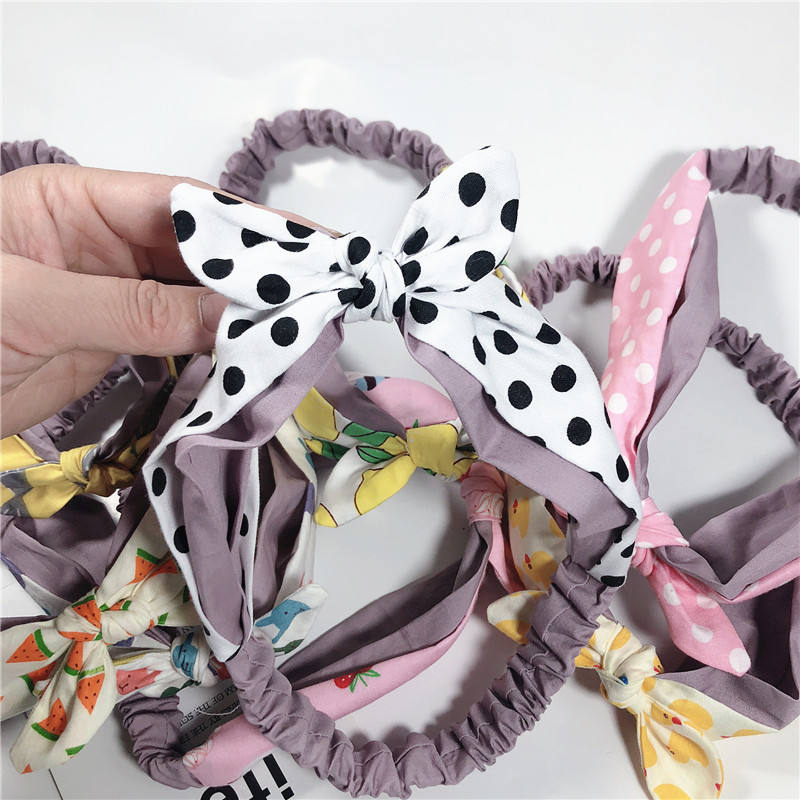 2020 Fashion New Arrived Kids Hair Accessories Cotton Knot Oversize Baby Bow Headband