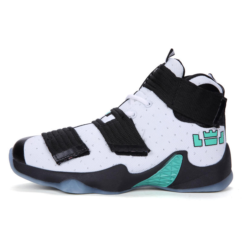 High quality Handsome men basketball shoes with comfortable and breathable fabric upper for sport excesize