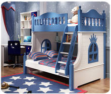 Children bed kids bedroom furniture modern bunk bed