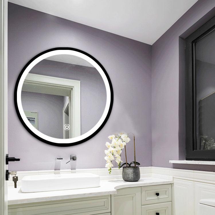 5mm beyaz işık ve sıcak işık banyo led duvar makyaj yuvarlak ışık aynaları