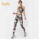 Workout Apparel High Waist Fitness Custom Women High Waisted Tight Workout Active Wear Clothing Yoga Set Pants Leggings Fitness Gym Athletic Apparel Manufacturers