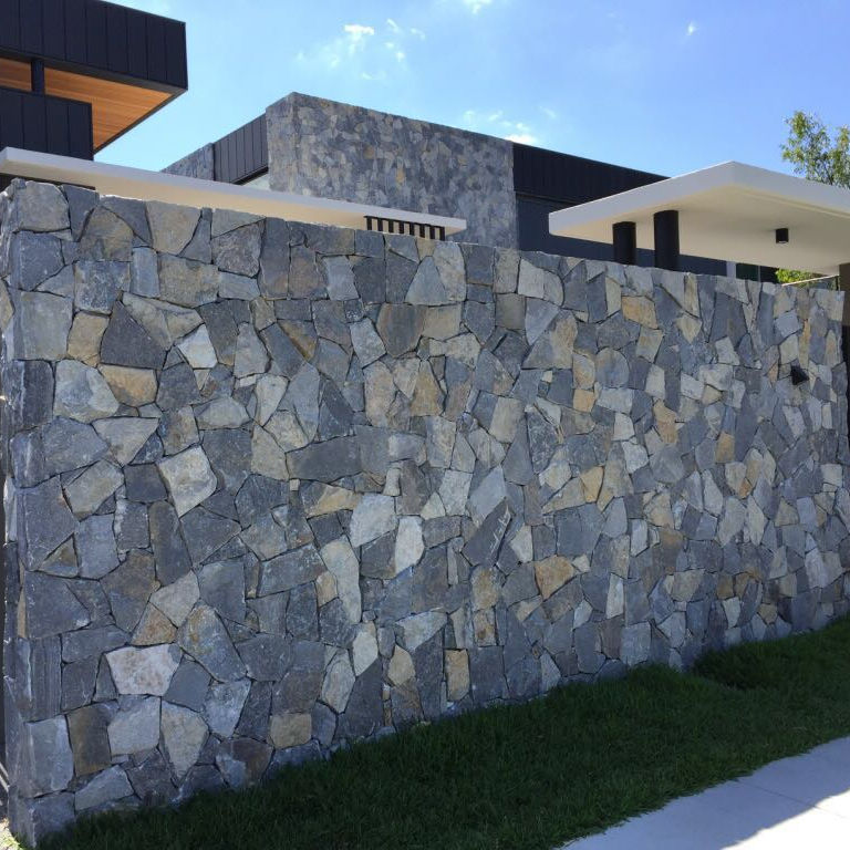 Natural Stone Blue Quartzite slate, Dry Stack Stone Wall Cladding Stone Veneer, Stone Wall Cladding