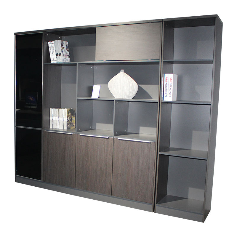 Floor Standing High Tech Wooden Drawers Storage Cabinets Press Open High Office Filing Cabinet