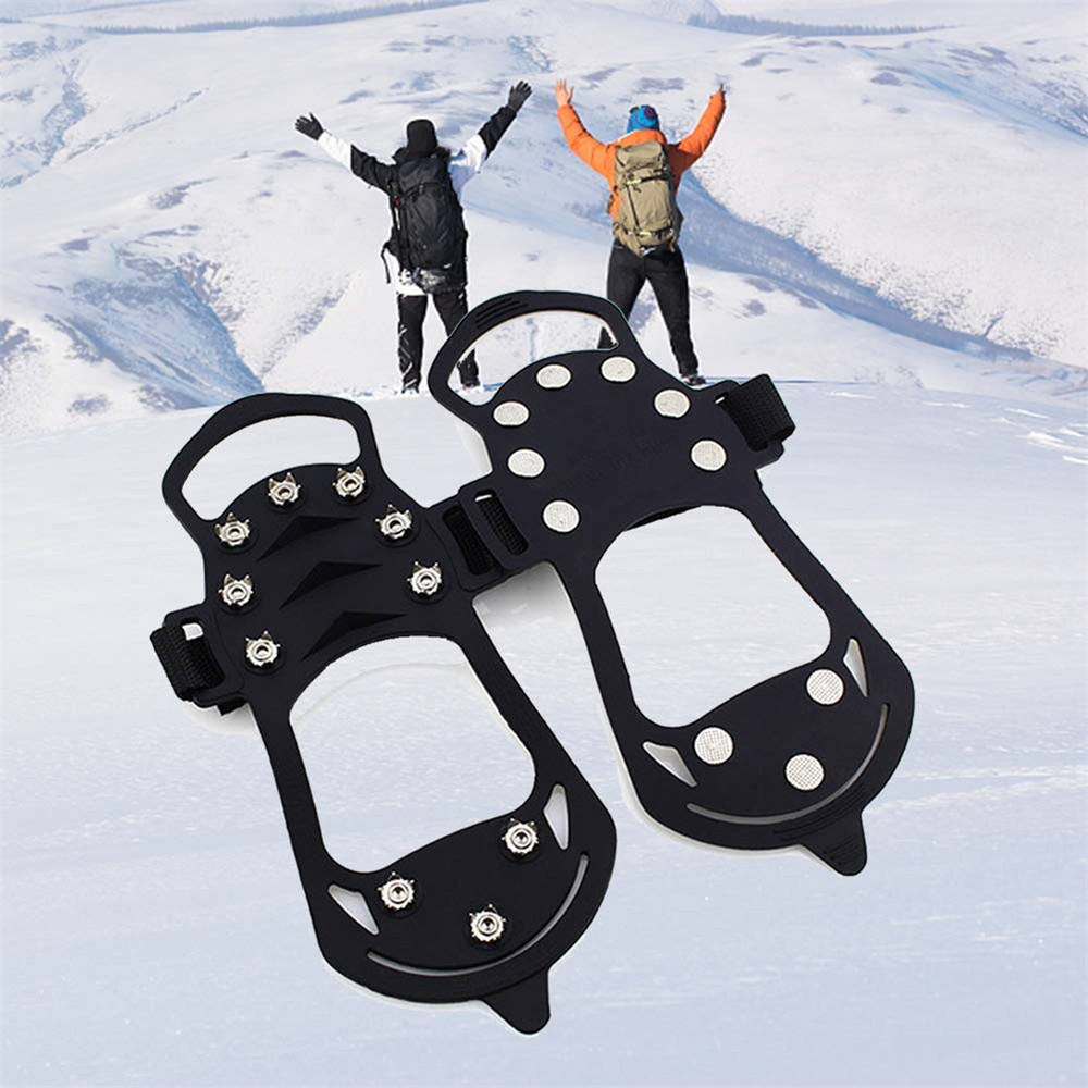 High quality snow ice anti slip rubber shoes cover ice cleats grippers in safety footwear