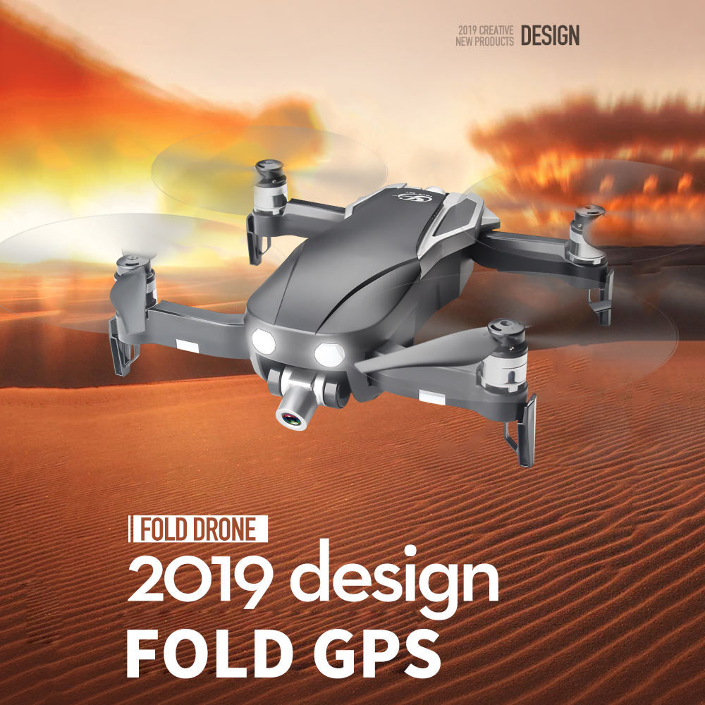 Drop Shipping New CSJ-X1 Foldable Profissional Drone 1080P/2K Camera 5G GPS WiFi FPV Wide Angle RC Quadrocopter Aircraft Heli