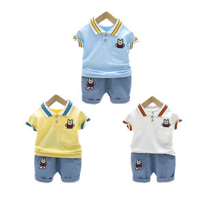 Kids Boy Clothes Set Boy Cotton Clothes Polo Shirt set Wholesale Children's Boutique Clothes