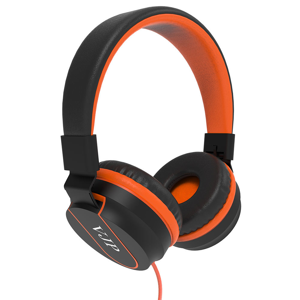 2019 factory headphones oem wired bass stereo headset foldable round speaker noise cancelling orange red