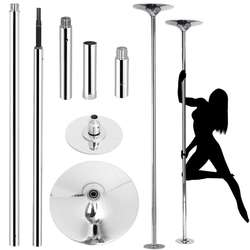 Professional Stripper Pole Spinning Static Portable Removable Dance Pole Kit for Exercise Club Party Pub Home w/Too