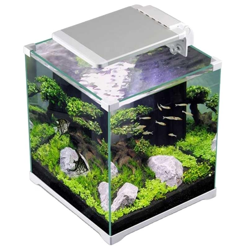 SUNSUN ATK Series Classic Small Fish Tank Simple Style For Home Office Aquarium Equipment With Three Color Light
