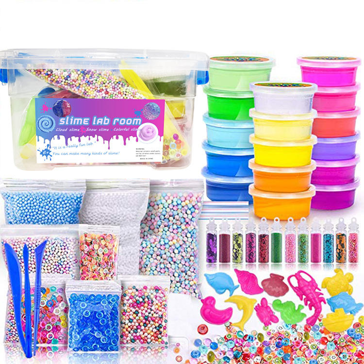 Colorful Super Cool making Slime Set Toy Kit For Kids Galaxy Japan Korea Unicorn Poop Crystal Slime Kit Set Toys