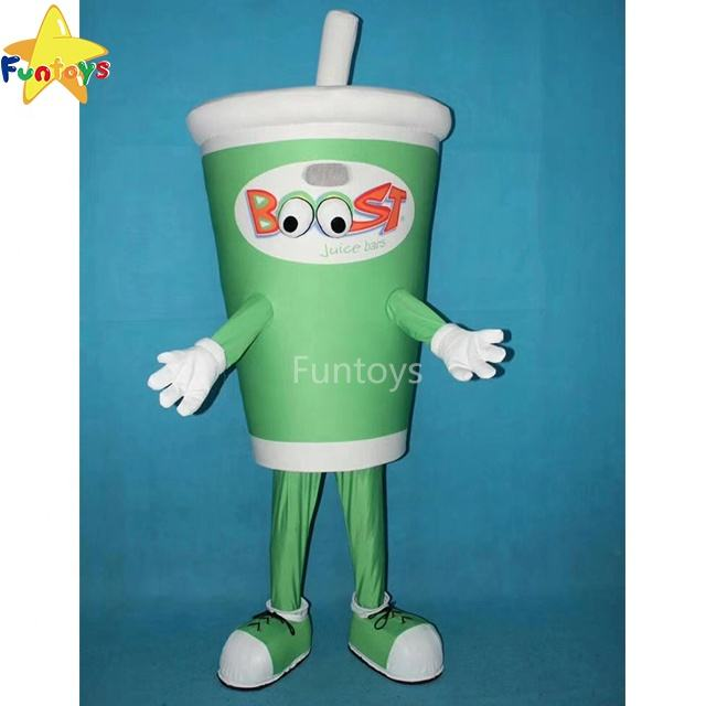 Funtoys CE Advertising Custom Milk Tea Drink Fruit Juice Cup Mascot Costume Commercial Performance For Adult