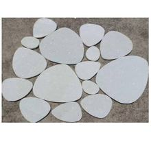 irregular rounded white stone for wall decoration