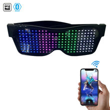 best selling products 2020 USB Bluetooth led school glasses scroll blue white green yellow red light