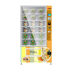 Afen competitive price combo coin and bill operated fresh fruit salad vending machine