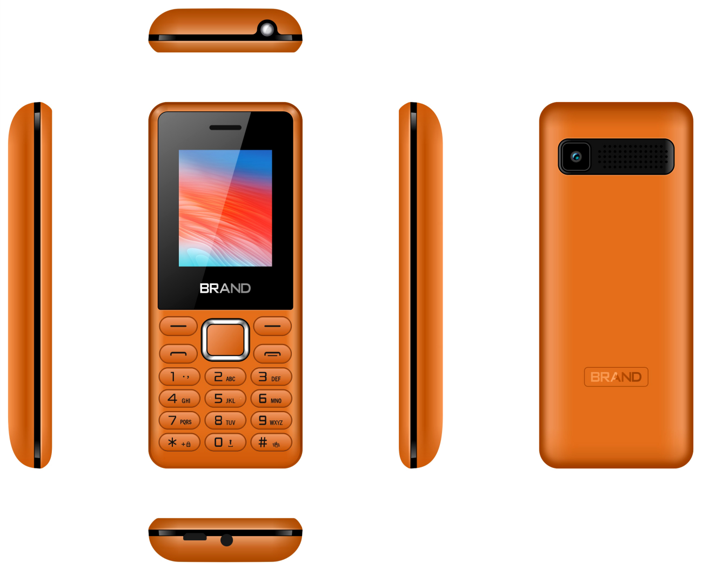 Factory OEM 1.77インチ2G Feature Phone Spreadtrum6531e 0.08MP 32MB + 32MB 800mAh Dual SIMカードGPRS LowエンドGSM携帯電話