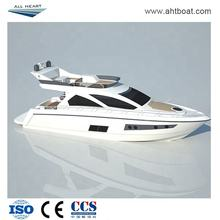 2019 new design aluminum plate boat finsing boat 14m luxury yacht with flybridge for entertainment