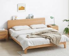 1.5 / 1.8m solid wood bed Nordic modern minimalist environmentally friendly bedroom furniture oak double bed
