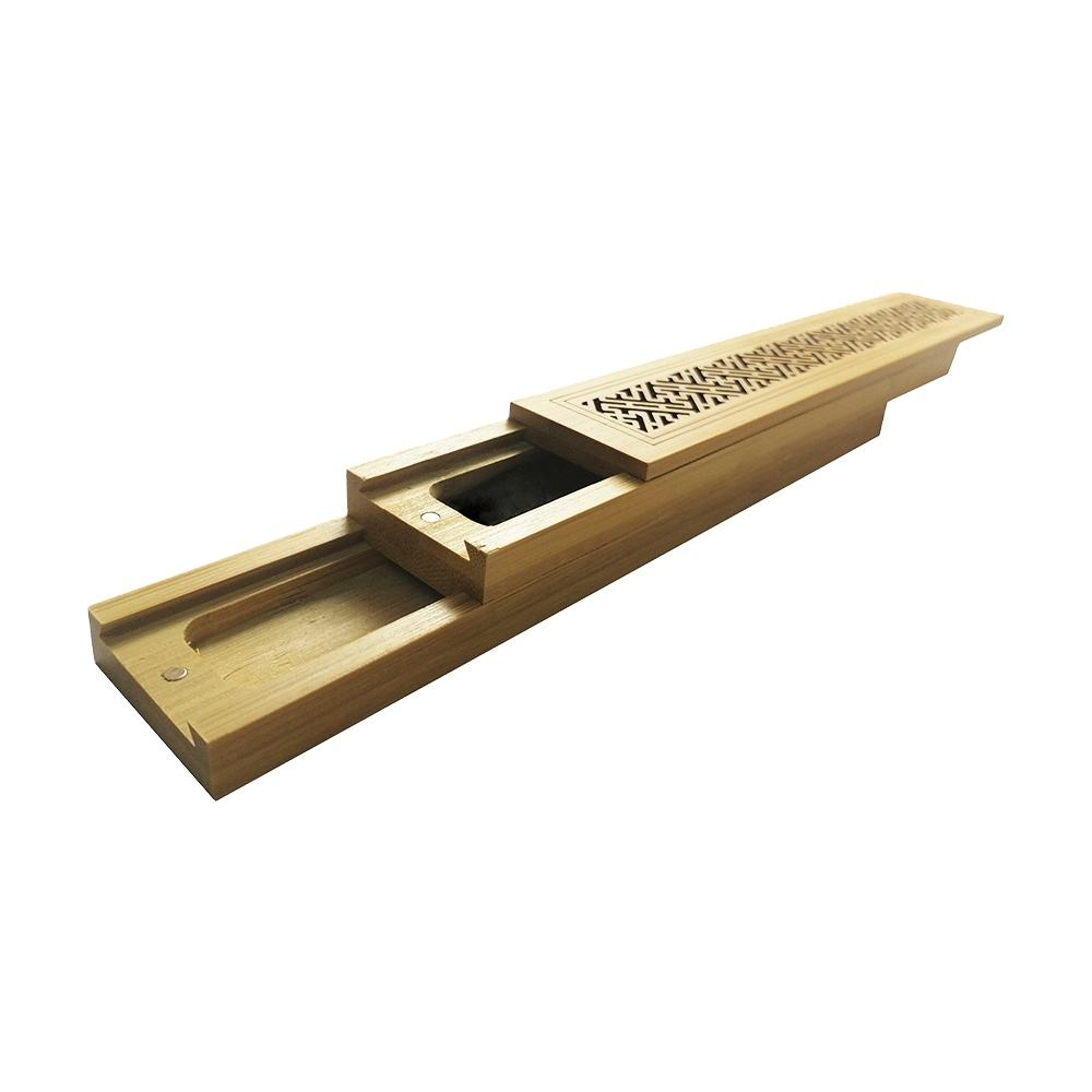 Wholesale wooden bamboo incense burner sticks box design Incense holder