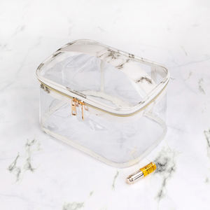 OEM PVC makeup bags travel transparent cosmetic pouch PVC makeup bags custom for women