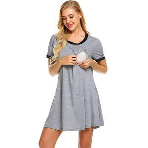 Wholesale Women High Quality Maternity Clothing Breastfeeding Dresses